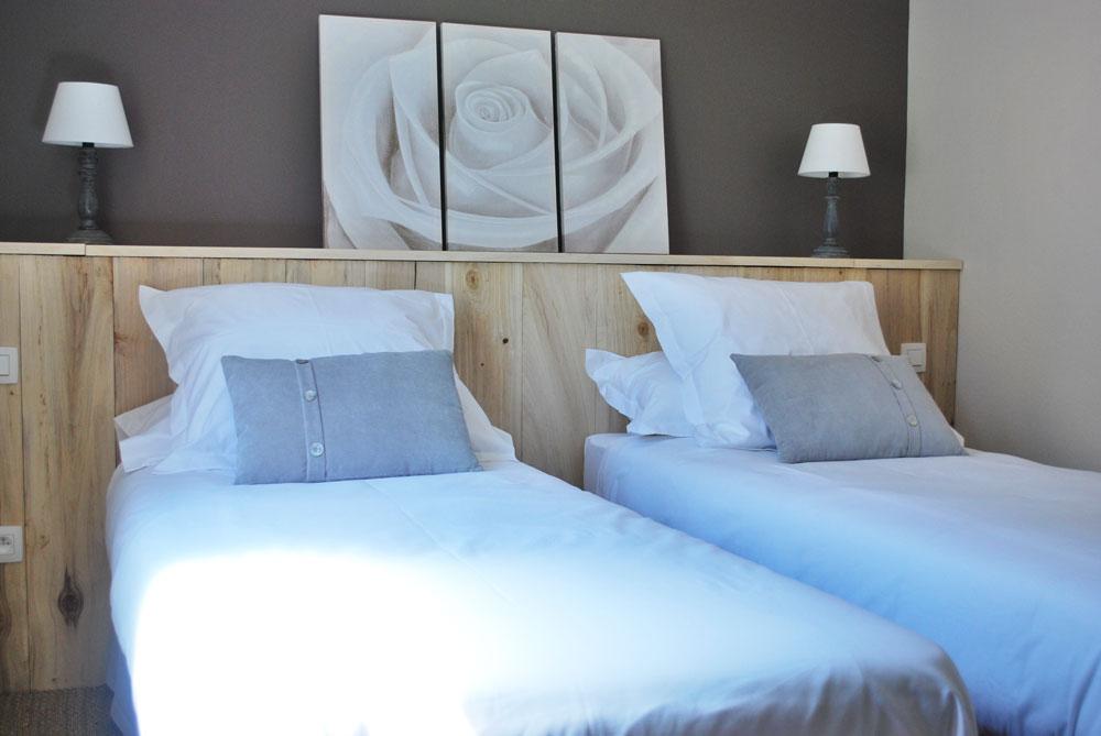 chambre 2 lits simple gite sarlat